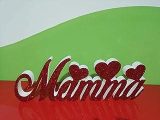 Scritta MAMMA in Polistirolo tradizionale con larghezza 50cm circa, altezza 17cm, profondità 3cm
