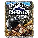 NORTHWEST MLB Colorado Rockies Woven Tapestry Throw Blanket, 48' x 60', Home Field Advantage