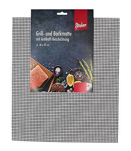 culinario Grillmatte, antihaftbeschichtet, zuschneidbar, 42 x 36 cm, als Backpapier Ersatz verwendbar