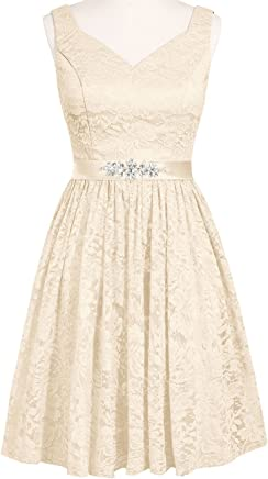 b534c4e35f0e7 Lilibridal Short Homecoming Dresses Belt Lace Wedding Formal Bridesmaid  Evening Pageant Ball Gowns 013
