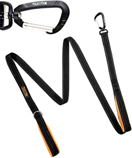 Mighty Paw Two Handle Dog Leash, 6 Foot Double Leash with Traffic Handle and Carabiner Clip. 2 Handles for Large Dogs and Pullers