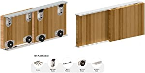 Catches And Latches Sliding Wardrobe 3000mm - 3 Door Track Kit Twin Track Gear System ARES 2 Roller Internal Cupboard