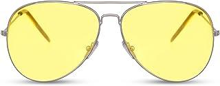 Gafas de Sol Piloto Redondas con Espejos UV400 Sin Montura Lisas Hombre Mujer