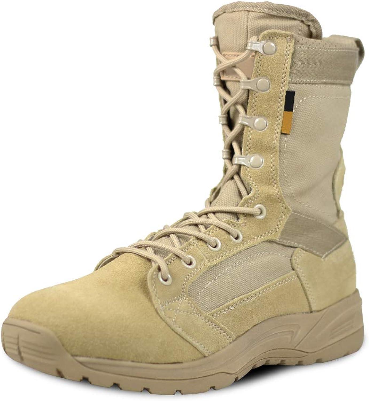 PANY Men's Military Boots Combat Boots Tactical Desert Boots Ultra-Light Work Boots
