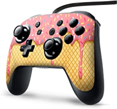 Skin Vinyl Decal Wrap for Nintendo Switch Pro Controller | Skins Stickers Cover | Ice Cream Cone Pink Sprinkles