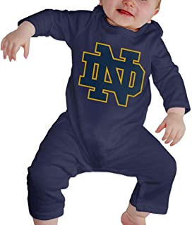 University of Notre Dame Nd Baby Girl Boy Clothes Bodysuits Long Sleeve Romper Jumpsuit