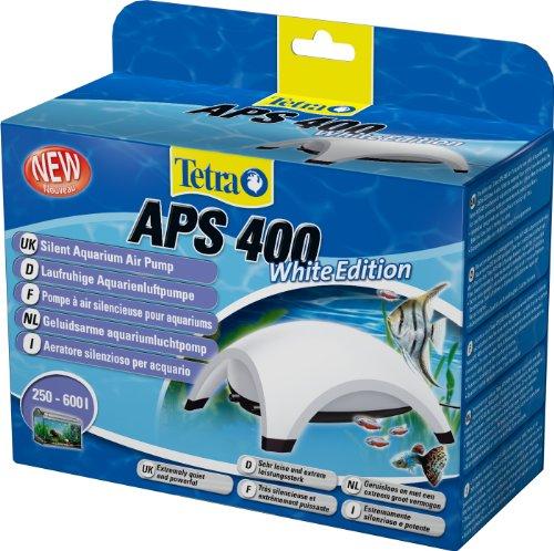 Tetra APS 400 Aquarium Luftpumpe - leise Membranpumpe für Aquarien von 250-600 L, weiß