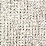 DESHOME Penelope - Tessuto al Metro Idrorepellente stoffa resistente per divani, cuscini, tappezzeria (Bianco crema, 1 metro)