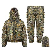Eamber Ghillie Suit Children Child Kids Youth 3D Leaf Realtree Camo Camouflage Lightweight