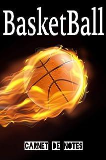 Carnet de Notes BasketBall: Ballon en feu | Sports | Journal | 120 pages lignées | A5.