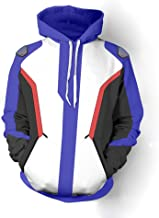 Rulercosplay Fashion Hoodie Soldier 76 Design Blue Hoodie Cosplay Costume