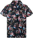 V.H.O. Funky Camisa Hawaiana, Snowflakes, Black, S