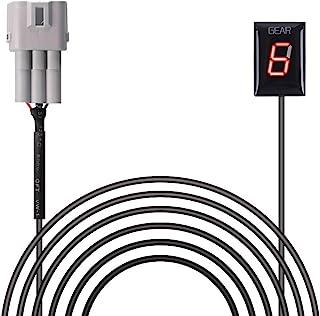 Indicador de Marcha de Motocicleta Impermeable Plug & Play de Pantalla LED (Rojo/Modelo 2003-2010)