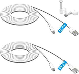 2 Pack 16.4FT Power Extension Cable for Wyze Cam Pan/WyzeCam/ Kasa Cam/YI Dome Home Camera/Furbo Dog/Nest Cam/Arlo Q/Blink...