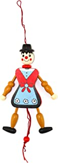 Polish Souvenirs Wooden Pinocchio Puppet Toy- Girl: Watch This Classic & Wonderful Toy Dance w/The Pull of The String. The Puppet is Beautifully Hand Painted. Made in Poland. Age 7 & up