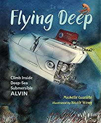 Flying Deep by Michelle Cusolito, illustrated by Nicole Wong