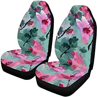 INTERESTPRINT Car Seat Covers Vehicle Protector for Auto Cars SUV, 2 Pieces