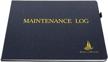 Direct 2 Boater Elegant Blue Hard Bound Maintenance Log Book Place Marker Pen Holder, Hardbound Book