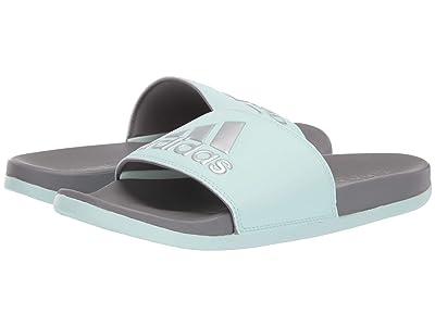 adidas Adilette Comfort (Ice Mint/Silver Metallic/Grey Three F17) Women