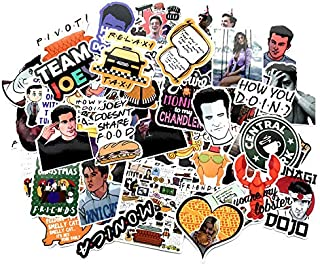 66pcs Friends tv Show Creative DIY Stickers Funny Decorative Cartoon for Cartoon PC Luggage Computer Notebook Phone Home Wall Garden Window Snowboard