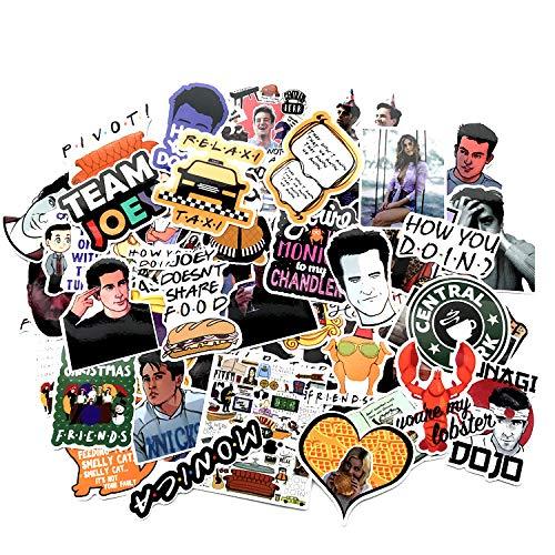A Sticker Shop 66pcs Freunde Tv Zeigen Kreative DIY Aufkleber Lustige Dekorative Cartoon Für Cartoon Pc Gepäck Computer Notebook Telefon Home Wand Garten Fenster Snowboard