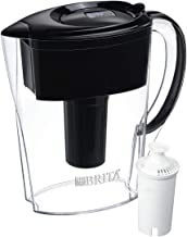 Brita Space Saver Water Filter Pitcher with 1 Standard Filter, Black, 6 Cup - 60258360363