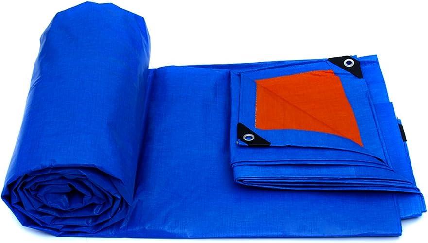 GLJ Bache en Plastique Feuille Extérieure Parasol Tissu Imperméable Camion Bache Bache Toile Bache Bache Bache Prougeection Solaire Bache bache (Couleur   bleu Orange, Taille   6  4m)