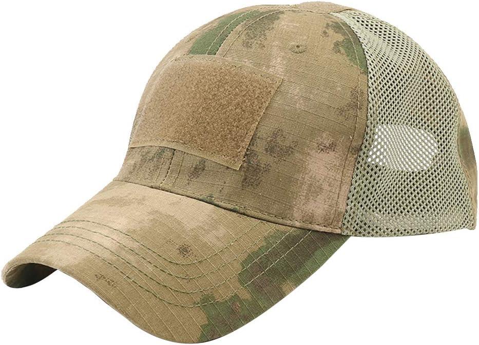 Cgration /Ét/é Unisexe Ext/érieur Camouflage R/églable Casquette Maille Militaire Arm/ée Airsoft P/êche Chasse Randonn/ée Baseball Casual Casquettes