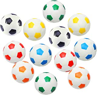 "Akusety 12Pcs Mini Sports Stress Balls Soccer Balls Fun Foam Ball 2.5"" Relaxable Stress Relief Squeeze Balls"