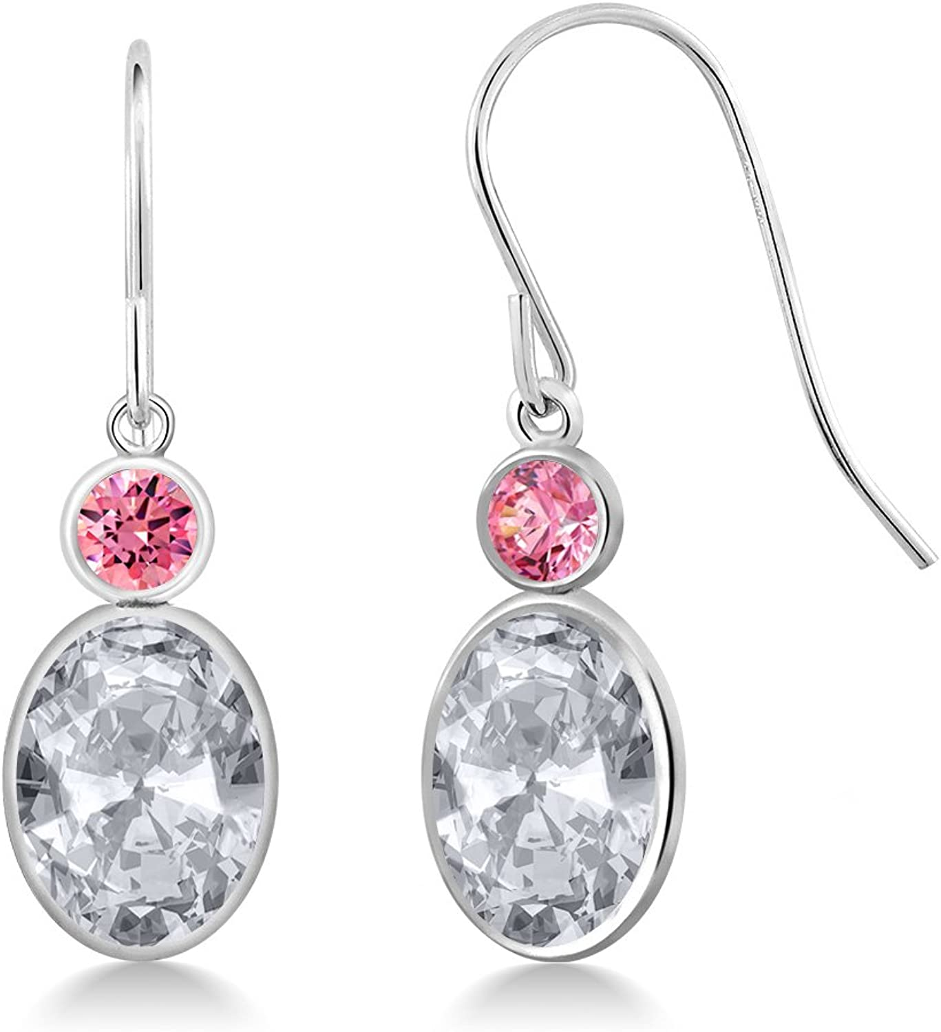 2.82 Ct White 14K White gold Earrings Made With Swarovski Zirconia