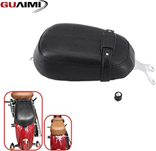 GUAIMI Motorcycle Rear Leather Passenger Pillion Seat with Quick Release Knurled Fender Seat Bolt For Indian Scout 2015-2020 Indian Scout Sixty 2016-2020 Scout 100th Anniversary (Black)