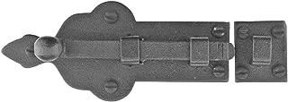 Black Slide Door Bolt Lock Wrought Iron 4 Inch Wide | Renovator's Supply