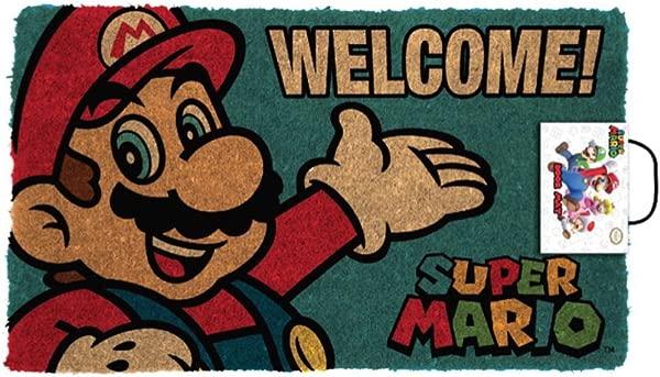 金字塔美国超级马里奥肖像欢迎电玩游戏户外门垫门垫 30x18 英寸