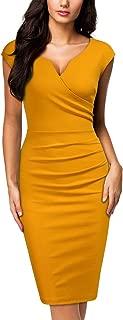 Women's Vintage Slim Style Sleeveless Business Pencil Dress