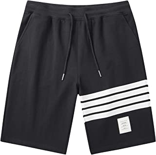 JustSun Men's Shorts Casual Classic Fit Joggers Shorts with Elastic Waist Pockets