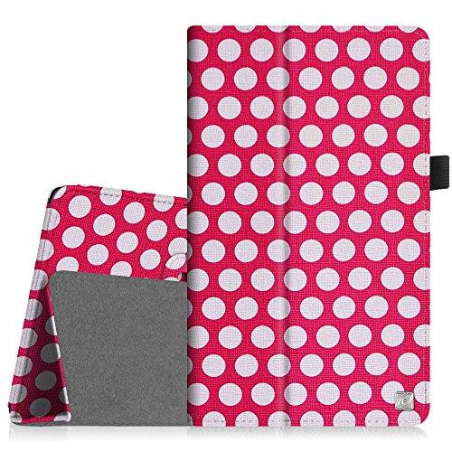 Fintie Samsung Galaxy Tab 4 7.0 Hülle Case - Slim Fit Folio Kunstleder Schutzhülle Cover Tasche mit Ständerfunktion für Samsung Galaxy Tab 4 7.0 T230 T235 (7 Zoll) Tablet, Punktmuster