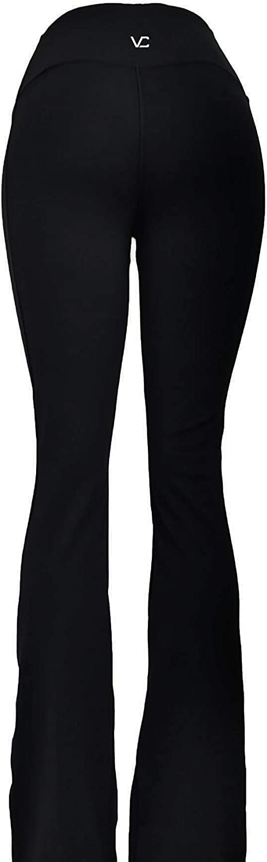 Victoria's Challenge Tummy Slimmer Compression Flare Boot Cut Petite Big Tall Black Pants 06YPT