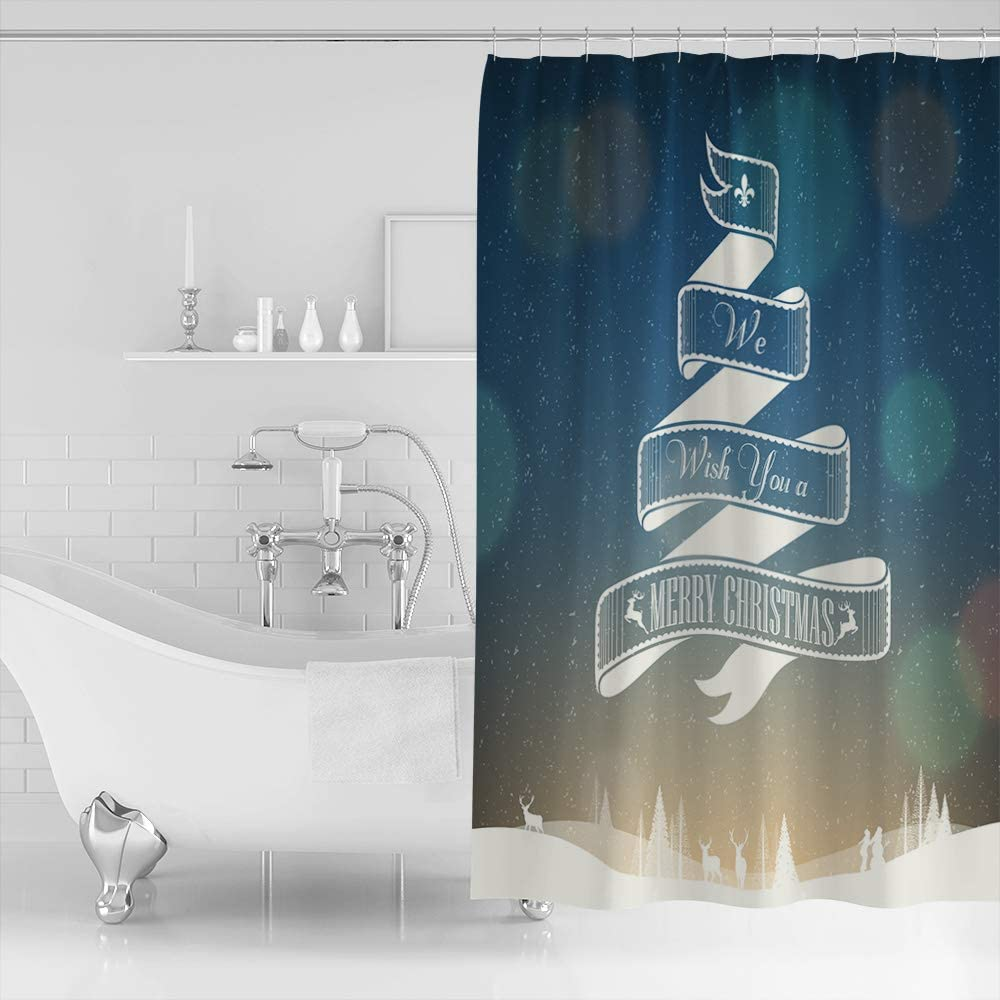 Womenfocus Modern Washington Mall Shower Curtain for 72x84In Bathroom with Hooks Recommended