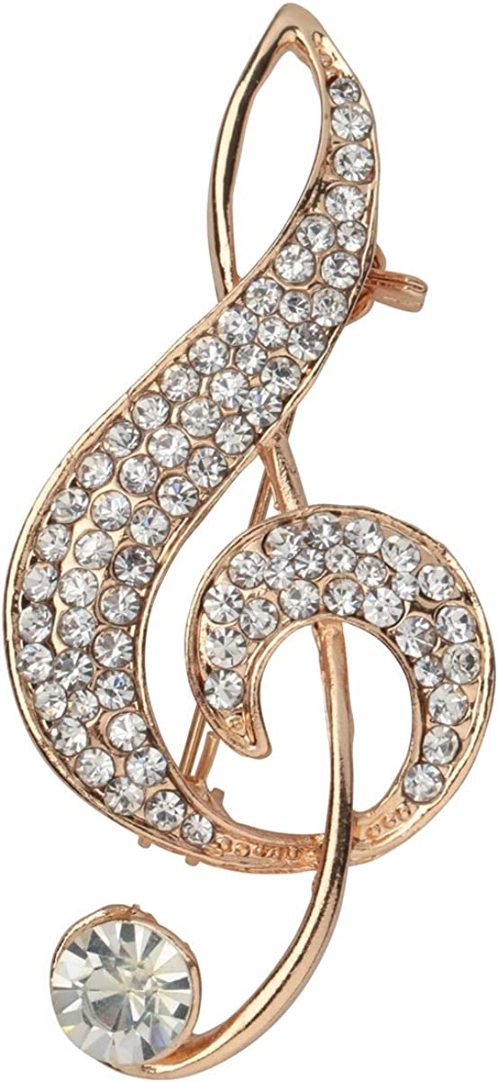 Szxc Music Note Brooch Pin Jewelry Gifts Collections Accessories for Her Women Musicians