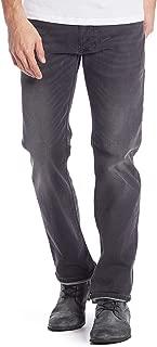 Diesel Men's Larkee Regular Straight Leg Jeans Faded Black Denim Wash R2T2R