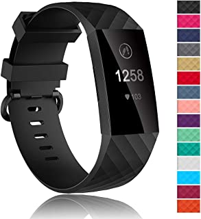 Velavior Waterproof Bands for Fitbit Charge 3/ Fitbit Charge 4/ Charge3 SE, Replacement Wristbands for Women Men Small Large