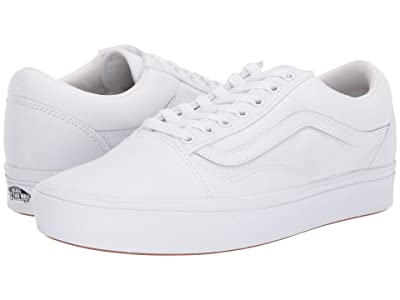 Vans Comfycush Old Skool ((Classic) True White/True White) Athletic Shoes