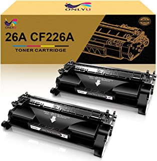 ONLYU Compatible Toner Cartridge Replacement for HP 26A CF226A Toner Cartridge Laserjet Pro M402 M426(Black, 2-Pack)