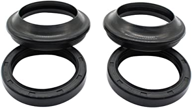 Cyleto Front Fork Oil Seal and Dust Seal Kit 41 x 53 x 8/10mm for Yamaha YZF600R YZF600 R 1995-2005 / YZF750R YZF750 R 1994 1995 1996 1997 1998 / YZF R1 YZF1000 1998 1999 2000 2001