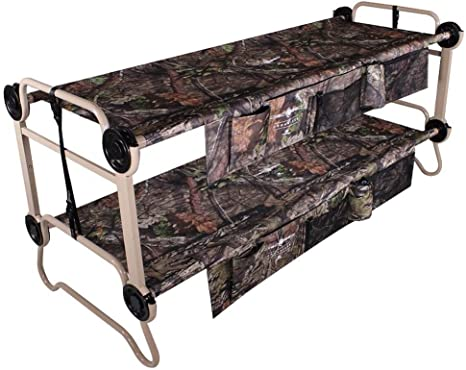 Amazon Com Disc O Bed Large Cam O Bunk Benchable Double Cot W Organizers Mossy Oak Home Kitchen
