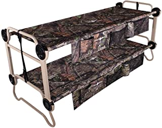 Disc-O-Bed Large Cam-O-Bunk Benchable Bunked Double Cot w/Organizers, Mossy Oak
