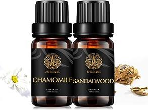 Aphrosmile Chamomile Sandalwood Essential Oil - 100% Pure Chamomile Sandalwood Oil, Organic Therapeutic-Grade Aromatherapy Essential Oil 10mL/0.33oz