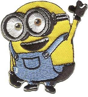 Parches - Los Minions Despicable Me 'Bob Hola' - amarillo - 6,5x6cm - termoadhesivos bordados aplique para ropa
