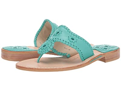 Jack Rogers Jacks Flat Sandal (Caribbean Blue) Women