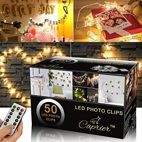 Luxury Teen Girl Room Decor, Photo Clips String Light, 50 LED Clips